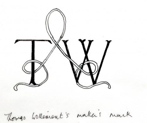 Thomas Willement Window maker's mark